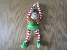 "Holiday Hanging Girl Female Elf 9"" stuffed Oriental Trading Co Company"