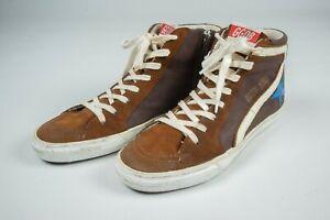 Women's GGDB Golden Goose Slide Suede Brown Shoes Keds Size 40