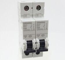2x Siemens 5sj41 c20 backup sportello automatico 5sj4120-7cc20 Linea Interruttore 20a