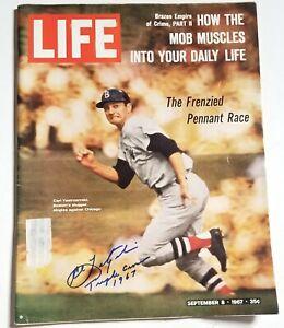 Carl Yastrzemski hand SIGNED Sept. 1967 Life Magazine JSA COA + Triple Crown Ins