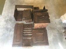 Antique Victorian Cast Iron Cooking Range Cooker Fireplace Stove Restoration