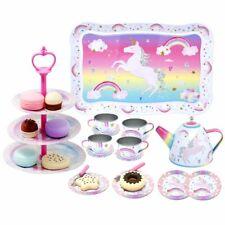 Girls Kids Tea Cup Party High Tea Set Unicorn Pretend Play Birthday Gift Present