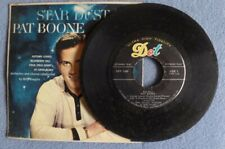 "Pat Boone Star Dust Autumn Leaves Cold, Cold Heart 7"" 45 RPM Record 1958 Dot"