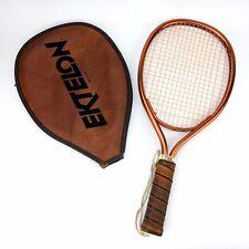 Vintage Ektelon Flex Racquetball Racquet Leather Medium Grip Original Case Euc