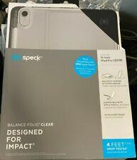 Speck Balance Folio Clear Case for 11-inch iPad Pro Gen 2 (2018) Black Clear