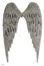 Angel Wings, metal, grey wall decor, shabby, boho, junky, vintage style