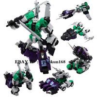 "New Robot Sixshot MFT MF-27G Green G1 Action Figure 5.5"" Kids Toys In Stock"