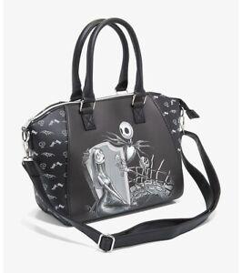 Loungefly The Nightmare Before Christmas Jack & Sally misfit love satchel bag