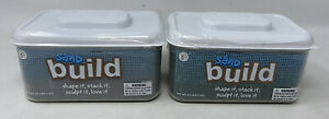 Lot of 2 Brookstone Sand NEW SEALED — Non Messy Play Kids Sculpt 4.4 Lbs Grey