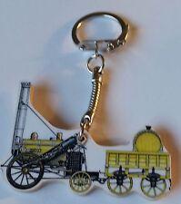 Wooden Stephenson's Rocket Steam Train Keyring key ring keychain Hand made UK