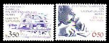 UNO Wien  Nr.    60-61  ** Briefmarken sammeln ein Internationales Hobby