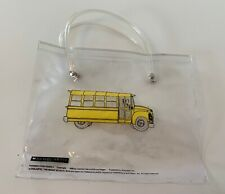 1996 The Magic School Bus Scholastic Small Clear Bag Pouch Pencil Case