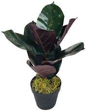 Planta Artificial De Goma Realista follaje árbol Interior al aire libre en Maceta Pequeña 41cm