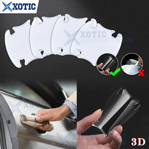 4x Invisible Clear Car Door Handle Protector Film Scratch Guard Cover Sticker 3D