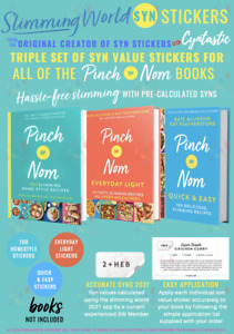 🔥SALE🔥 SLIMMING WORLD SYN STICKERS FOR 3x PINCH OF NOM BOOKS 2021 SYN VALUE