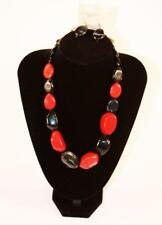 Tamina Black Red Gray Jxcy New Necklace & Earrings Set Premium Fashion Jewelry
