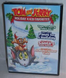 NEW TOM AND JERRY HOLIDAY 4 KID FAVORITES CHRISTMAS ANIMATED MOVIE 2 DISC DVD