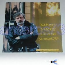 """FRANCESCO GUCCINI """"D'AMORE DI MORTE E DI"""" RARO LP LIMITED 1a STAMPA - SIGILLATO"""