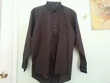 Alfred Dunhill  Button dn L/Sleeve Shirt Dark  Pin Stripes NWOT SZ 41/16,5 ITALY