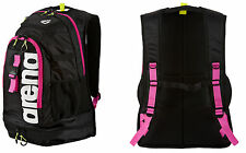 SWIM BACKPACK ZAINO ARENA PISCINA NUOTO FASTPACK 2.1 1E388 95BLACK/FUCHSIA/WHITE