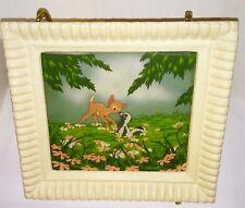 Disney Multi-plane Bambi & Flower #13 framed painting on glass early high grade
