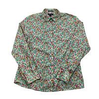 Lands' End women's long sleeve button down shirt no iron supreme Cotton size 12