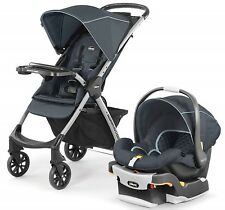 Chicco Mini Bravo Plus Travel System Stroller w/ KeyFit 30 Zip Car Seat Midnight