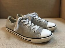 CONVERSE ALL STAR GRAY CANVAS DAINTY LOW PROFILE SNEAKERS WOMENS SIZE 5