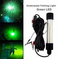 12-24V LED Underwater Submersible Fishing Light Night Crappie Shad Squid Lamp