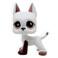#2642 RARE Littlest Pet Shop Firefox Fox Blue Eyes Dog LPS Animal Toy