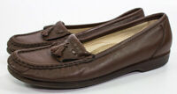 SAS Women's Size 8 1/2 M Comfort Brown Leather Comfort Slip-On Loafers