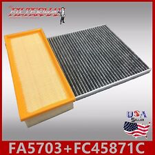 FA5703 FC45871C(CARBON) OEM QUALITY ENGINE & CABIN AIR FILTER: 07-12 ALTIMA 2.5L