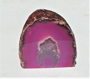 Large Pink Agate Display With Crystal Geode From Brazil  (AGATEG14)