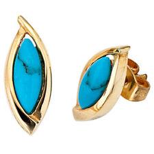 ccbadc78b766 Pendientes de joyería con gemas turquesa turquesa oro amarillo ...
