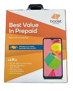"New Gray Boost Mobile LG K22 LGk200TMANB 32GB 6.2"" HD+ Display Prepaid Phone"