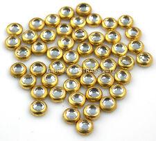 STRASS Termoadesivi SS16 4mm 50pz Ghiera Oro colore cristallo trasparerente