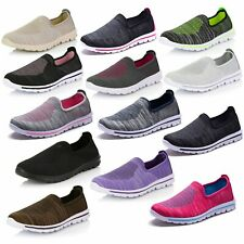DailyShoes Women's Sneakers Slip-on Running Walking Memory Foam Breathable Shoes