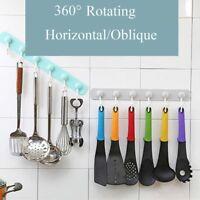360° Rotating Strong Rack Kitchen Storage Holder Wall Hook Bathroom Wall Hanger