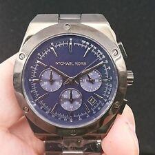 New Old Stock MICHAEL KORS Reagan MK5994 Chronograph Date SS Quartz Women Watch