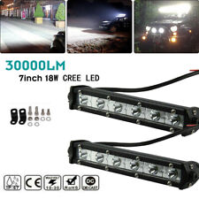 2Pcs 7 inch Led Work Light Bar Flood SUV Boat Driving Lamp Offroad 4WD Wire Kit