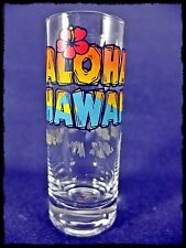 Aloha Hawaii Shot Glass Etched Glass with Screen Print