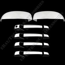 FOR CHEVY AVALANCHE 2007-2013 CHROME TOP MIRROR & DOOR HANDLE COVER (W/O PSKH)