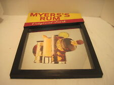 VINTAGE MYERS RUM MIRROR SIGN BARWARE ALCHOL ADVERTISING MEMORABILIA