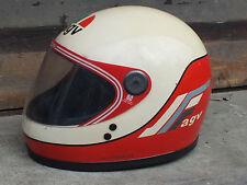 Agv v-kr 2000 casco vintage fibra di vetro anni '80 Kenny Robert