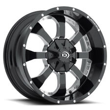"4-17"" Inch Vision 420 Locker 17x9 5x139.7(5x5.5"") -12mm Black/Milled Wheels Rims"
