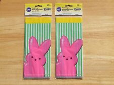 Wilton Easter Party Bags Peeps Pink Bunny Rabbit 2 Packages 24 Sacs