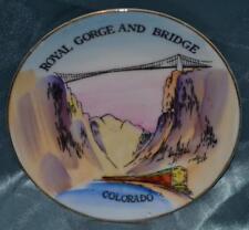 """Vintage ROYAL GORGE AND BRIDGE Colorado Souvenir 4"""" Decorative Plate Porcelain"""