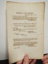 1864 Civil War Confederate Imprint - Jefferson Davis - 1 Page Document
