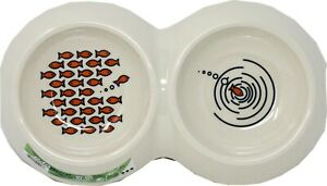 Van Ness Ecoware Bamboo Double Diner Cat Dish 16 oz.Asst Color    Free Shipping