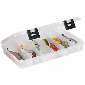 Plano Box Fishing Lure Tackle Bait Storage Case Hook Fly Plastic Compartments
